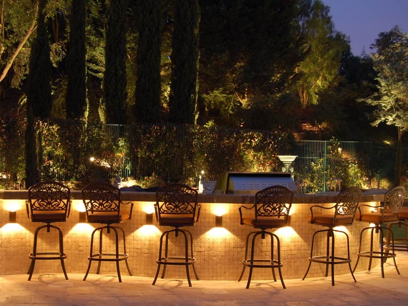 outdoor party lights photo - 7