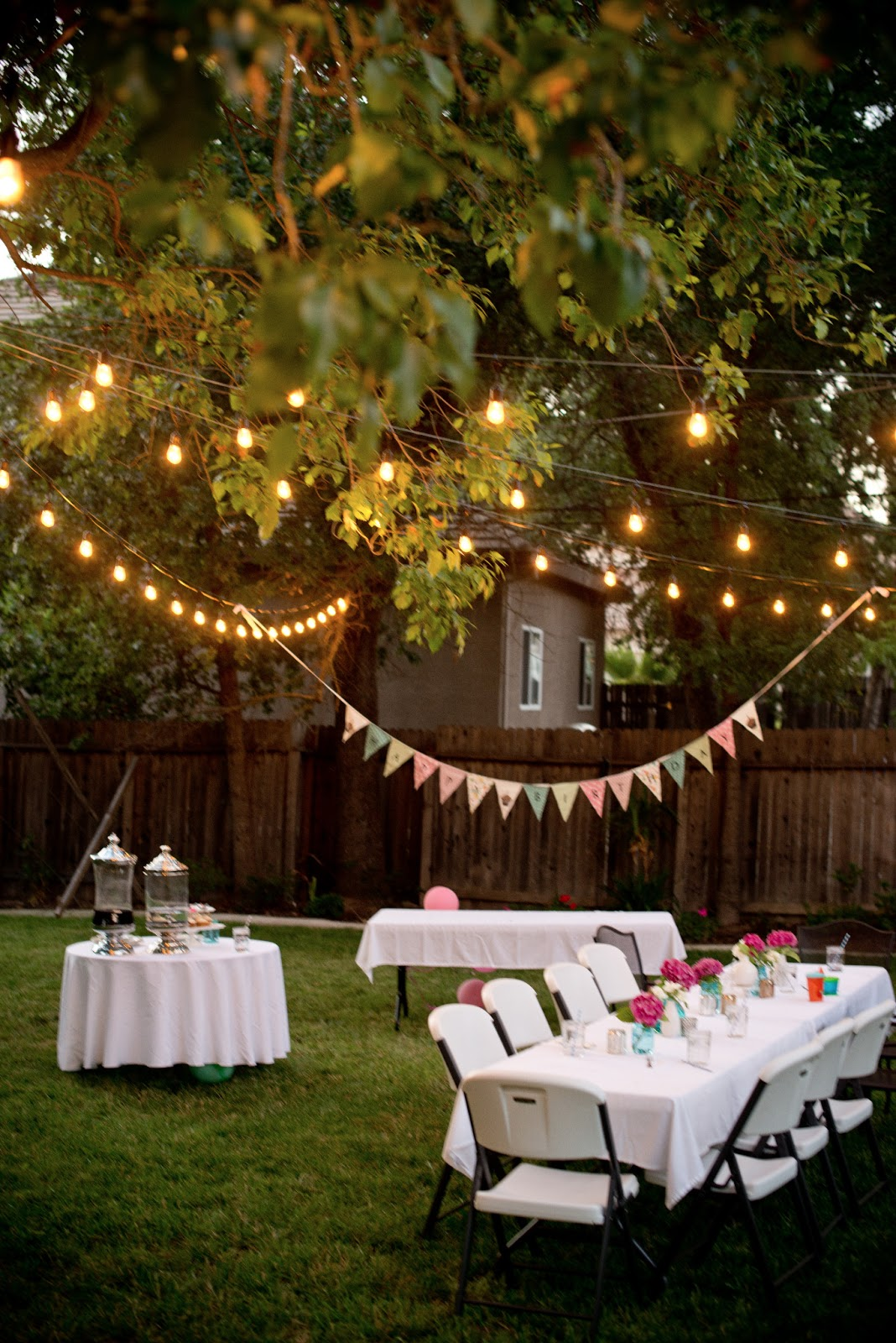 outdoor party lights ideas photo - 5
