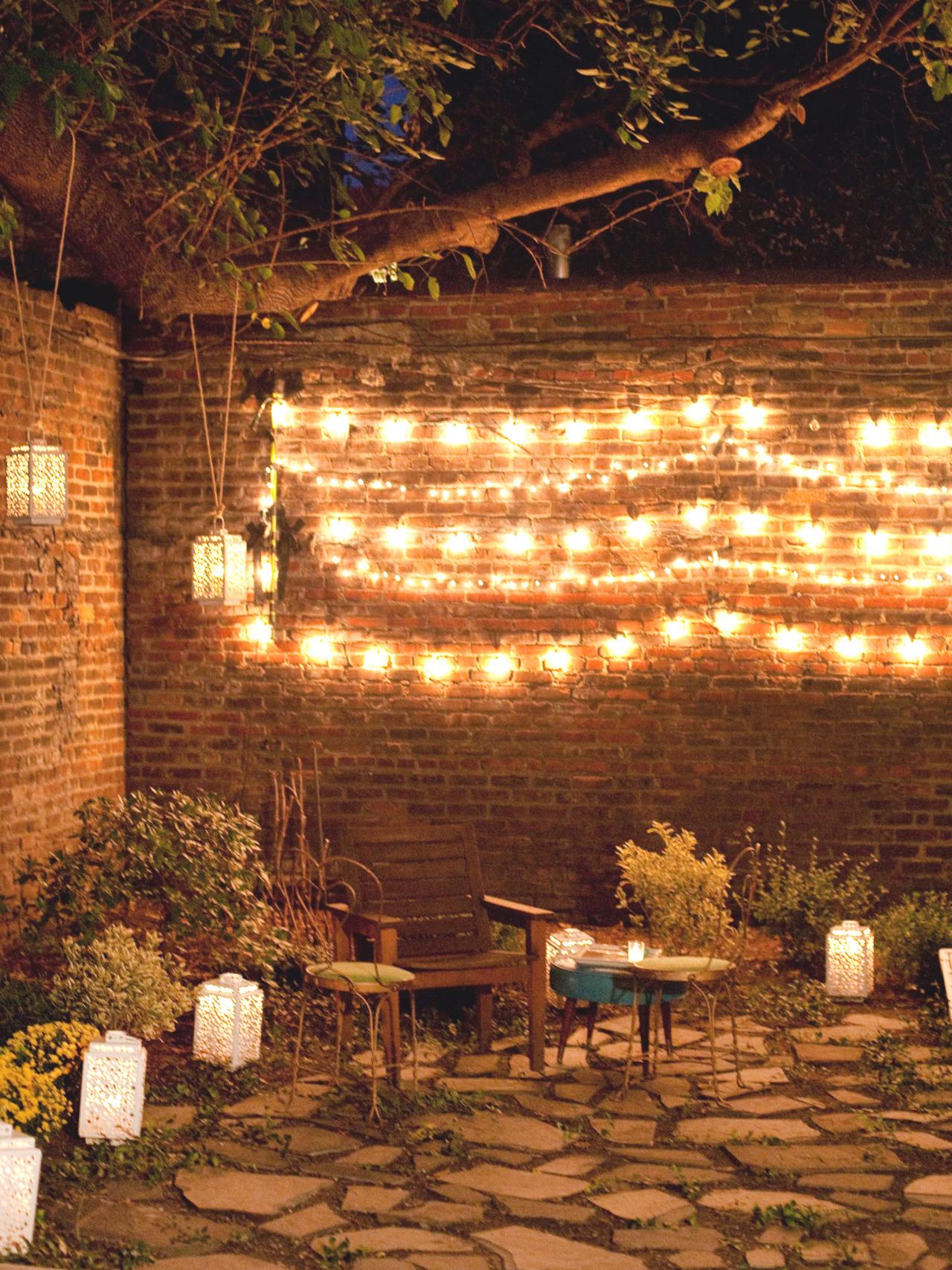 outdoor party lights string photo - 2