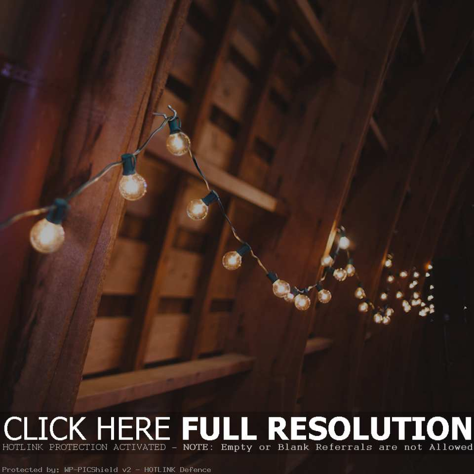 outdoor party lights string photo - 5