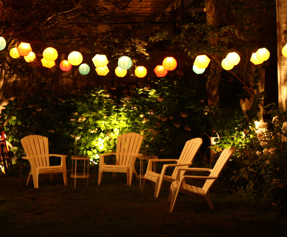 outdoor party lights string photo - 6