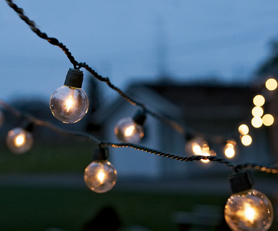 outdoor party lights string photo - 9