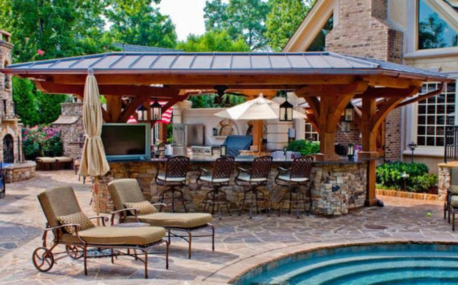 Outdoor Pool And Bar Designs