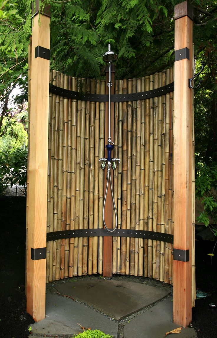 Outdoor Shower Bamboo Hawk Haven