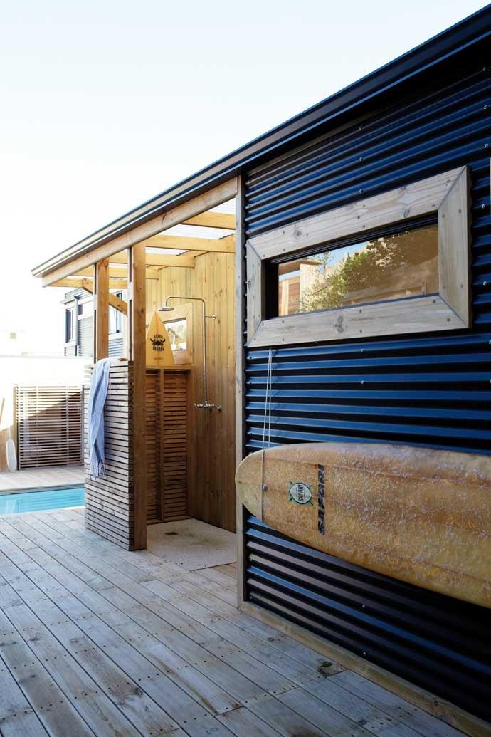 outdoor shower beach house photo - 3