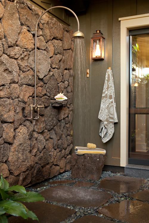 outdoor shower design photo - 4