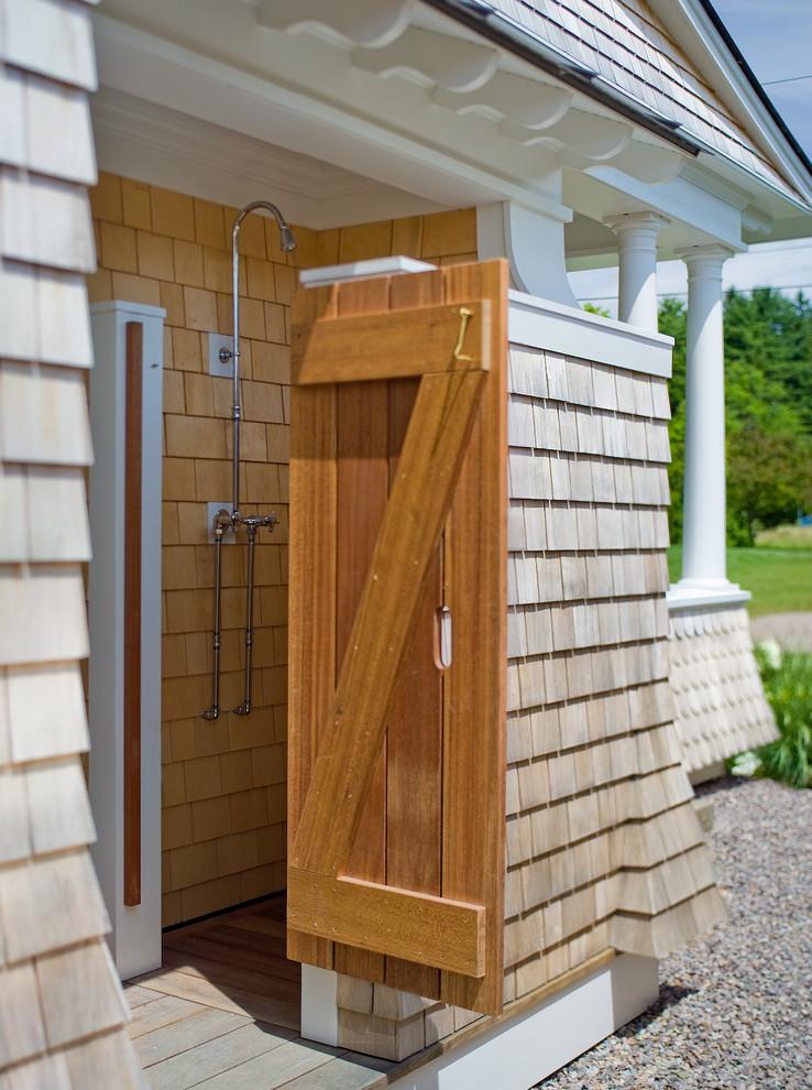 outdoor shower design photo - 7