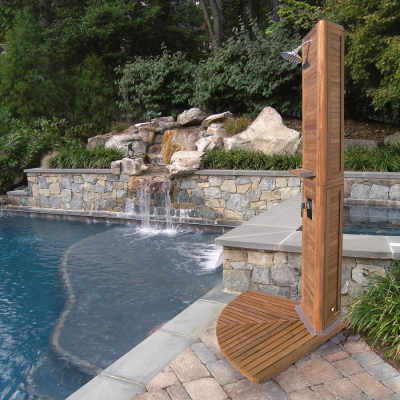 outdoor shower for pool photo - 2