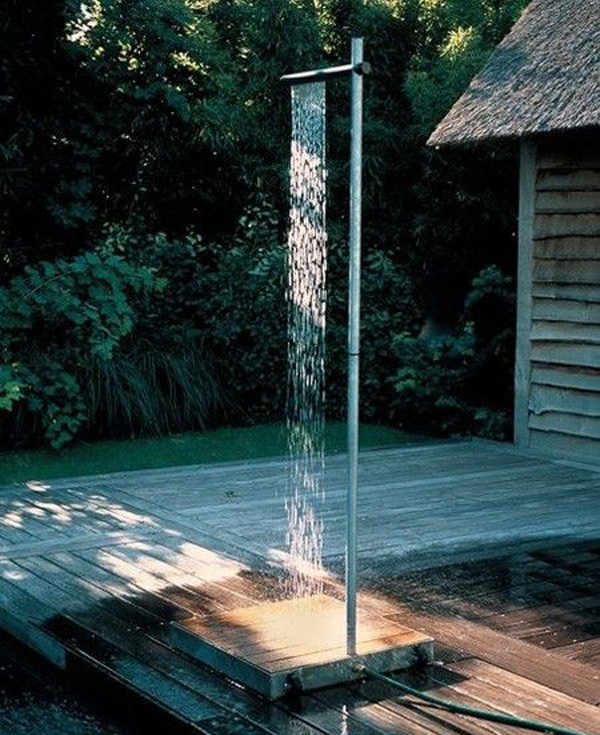 outdoor shower for pool photo - 4