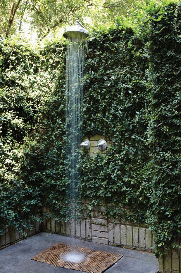 outdoor shower garden photo - 1