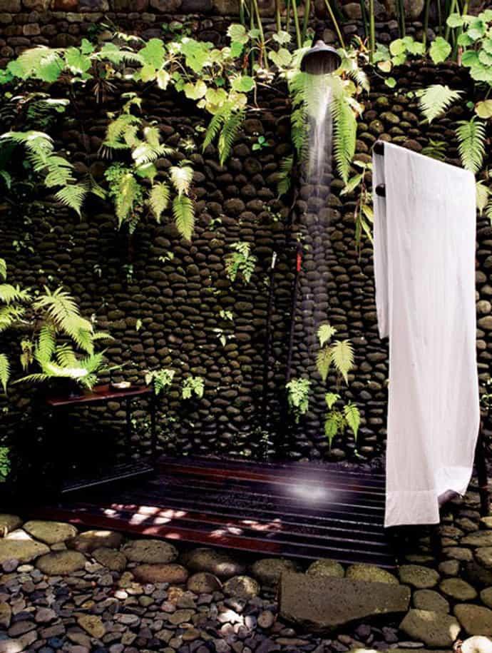 outdoor shower garden photo - 2