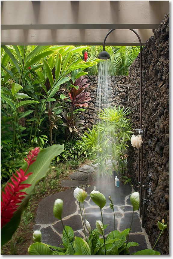 outdoor shower garden photo - 6