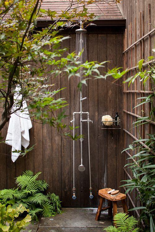outdoor shower garden photo - 9
