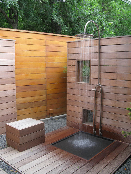 outdoor shower layout photo - 5