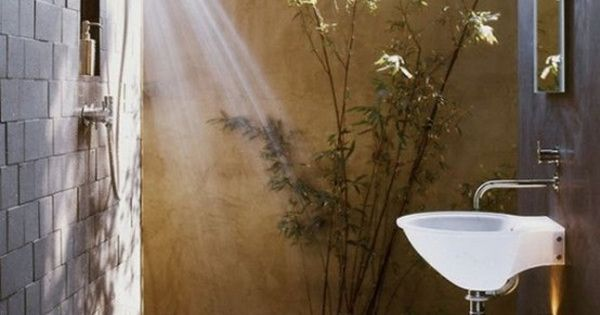outdoor shower mirror photo - 10