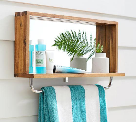 outdoor shower mirror photo - 2