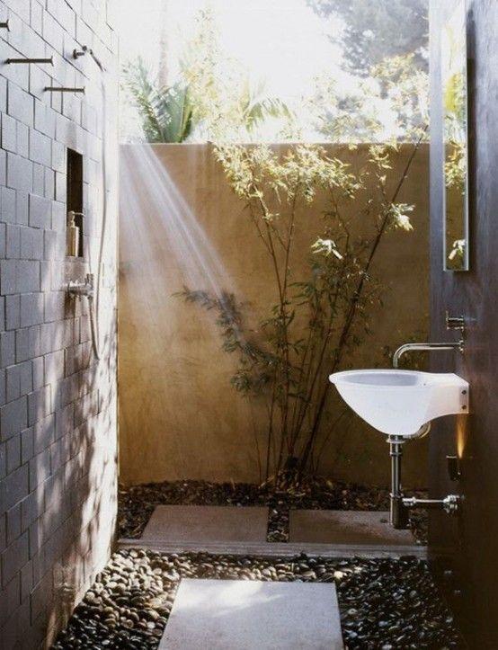 outdoor shower mirror photo - 5