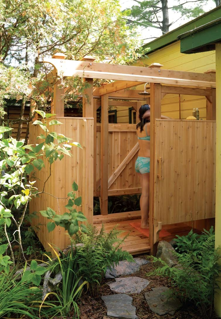 outdoor shower plans photo - 1