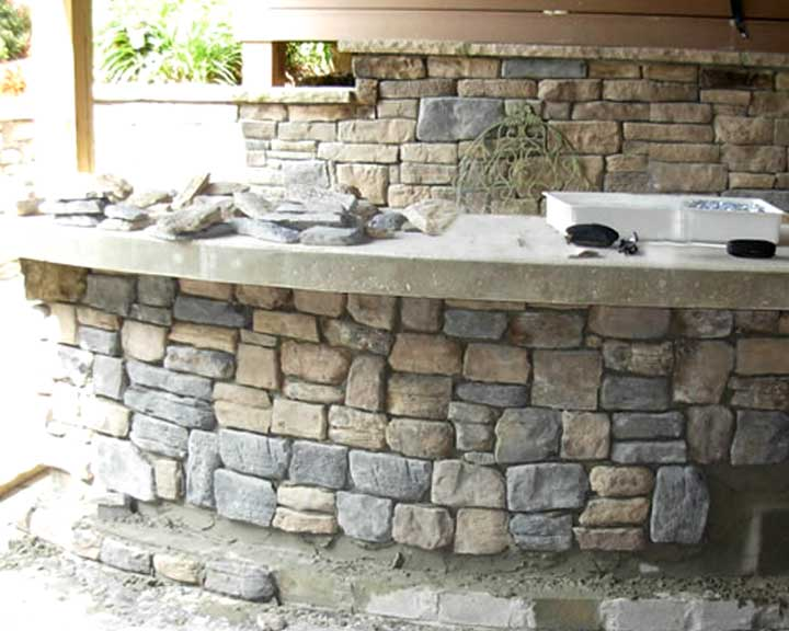 outdoor stone bar designs patio23 bar