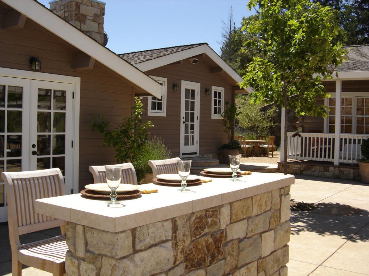 outdoor stone bar designs photo - 10