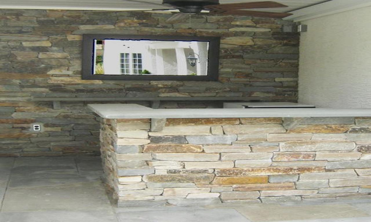 outdoor stone bar designs photo - 2