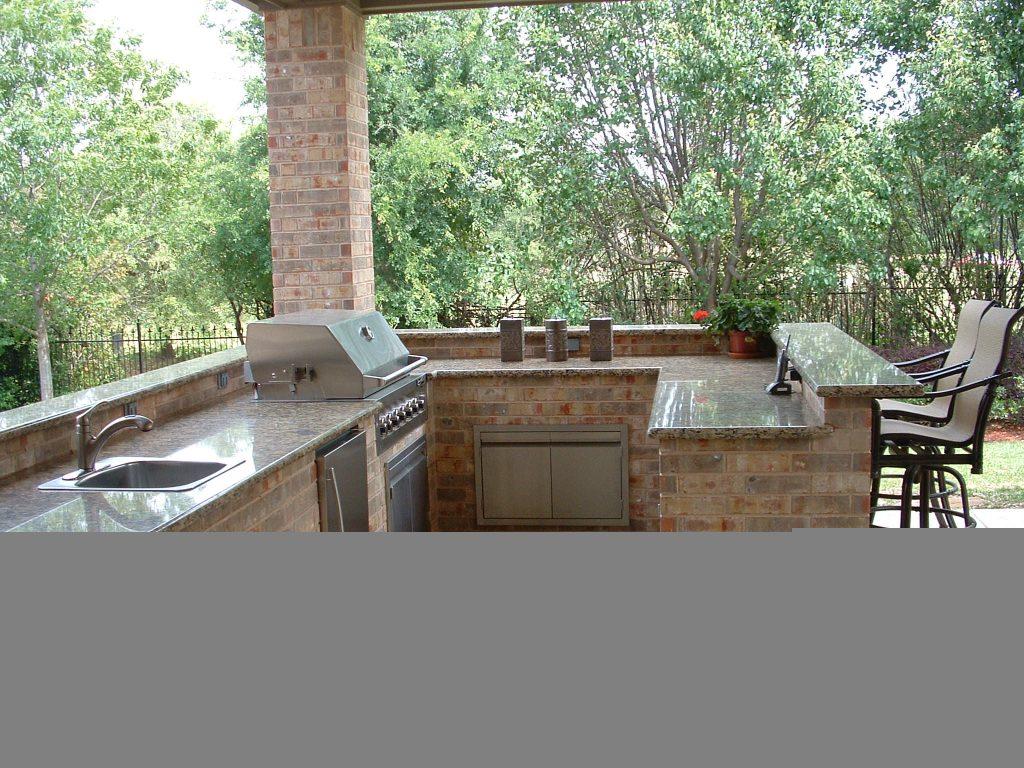 outdoor stone bar designs photo - 4