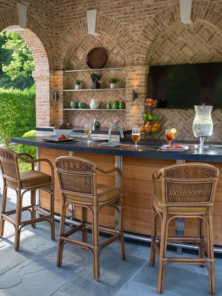 outdoor stone bar designs photo - 6