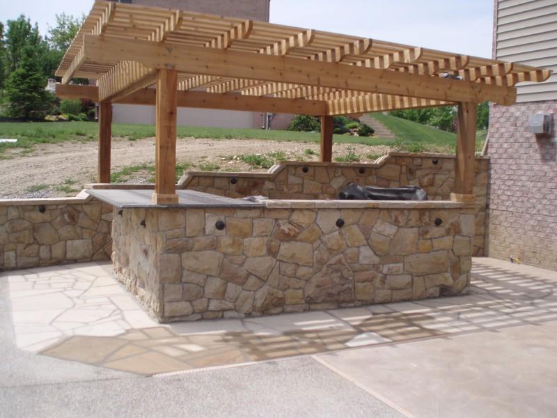 outdoor stone bar designs photo - 7