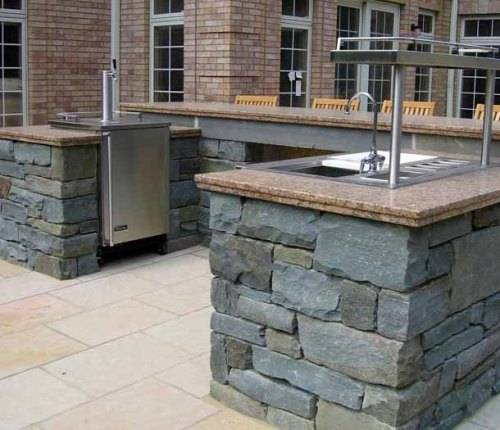 outdoor stone bar designs photo - 8