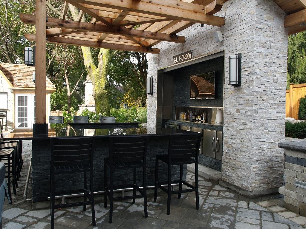 outdoor stone bar designs photo - 9