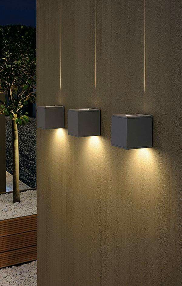 outdoor wall accent lighting photo - 10