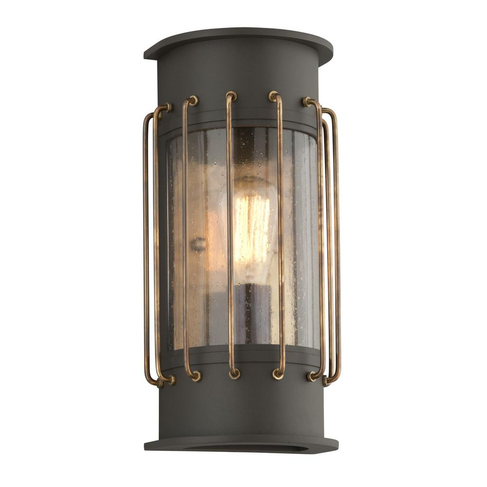 outdoor wall accent lighting photo - 2