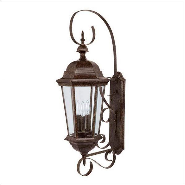 outdoor wall accent lighting photo - 4