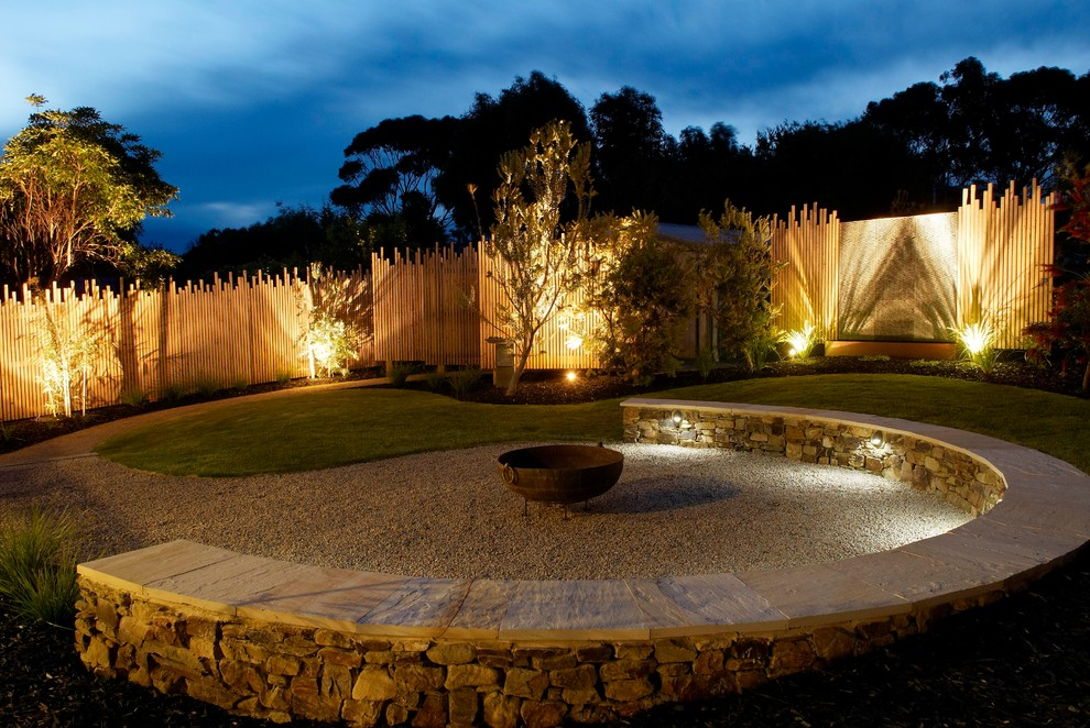 outdoor wall accent lighting photo - 9