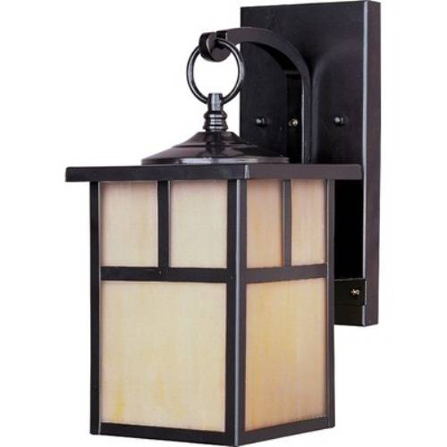outdoor wall light with built in outlet photo - 1