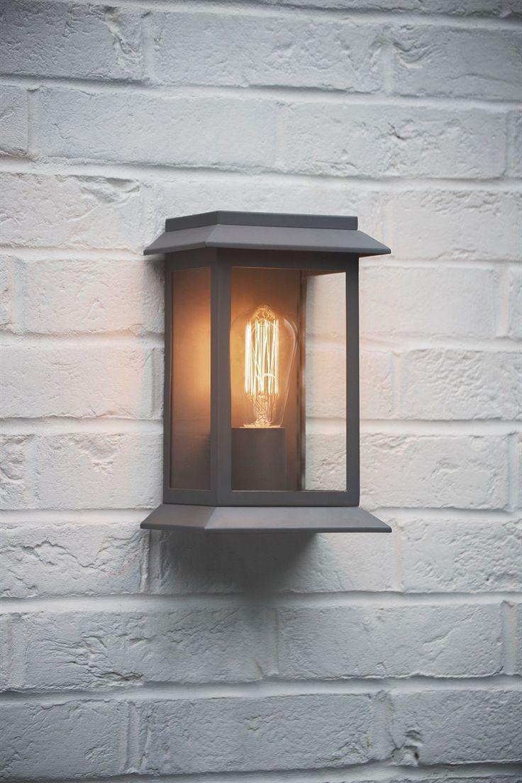 outdoor wall light with built in outlet photo - 10