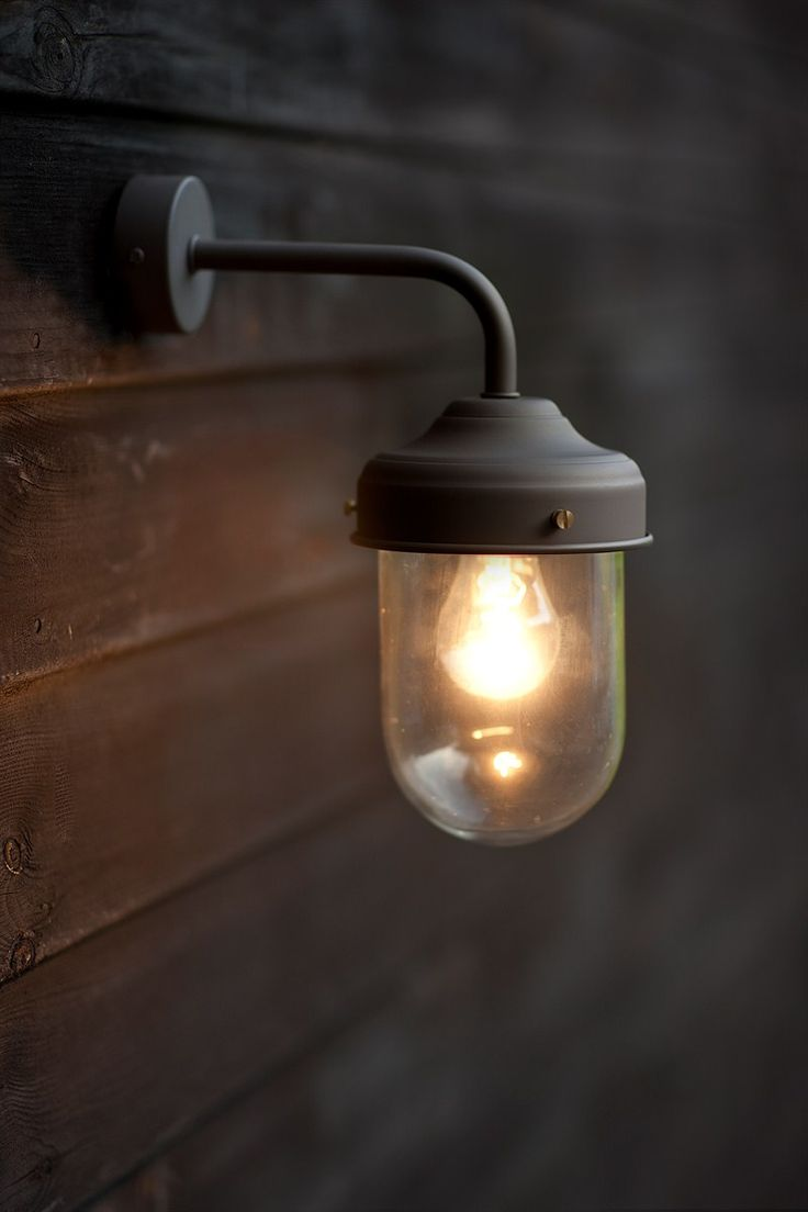 outdoor wall light with built in outlet photo - 8