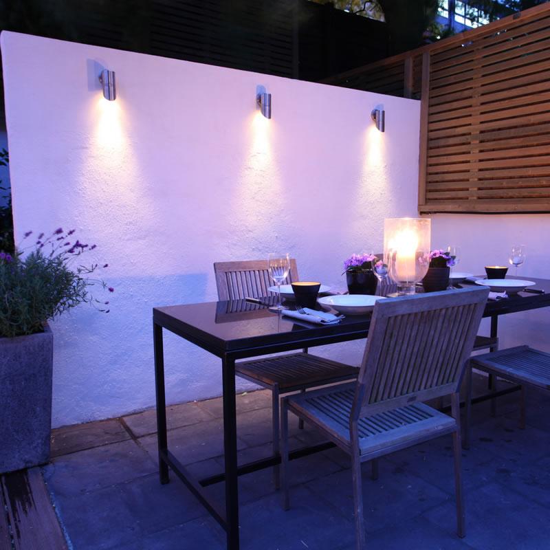 Outdoor wall lighting ideas   Hawk Haven on Outdoor Garden Wall Ideas id=85921