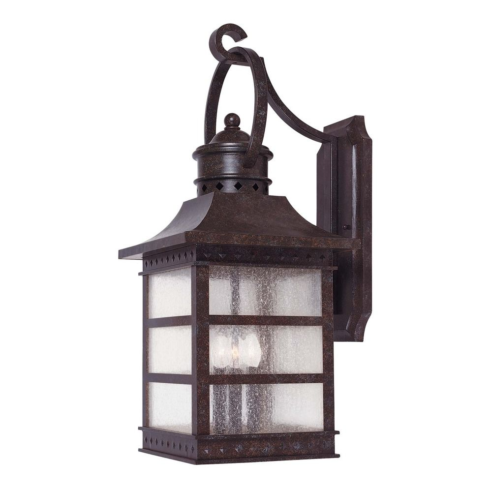 outdoor wall lights rustic photo - 1