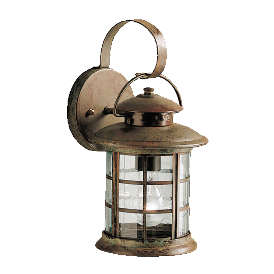 outdoor wall lights rustic photo - 4