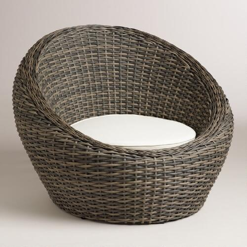 outdoor wicker egg chair photo - 1