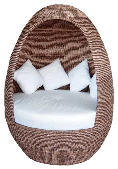 outdoor wicker egg chair photo - 2