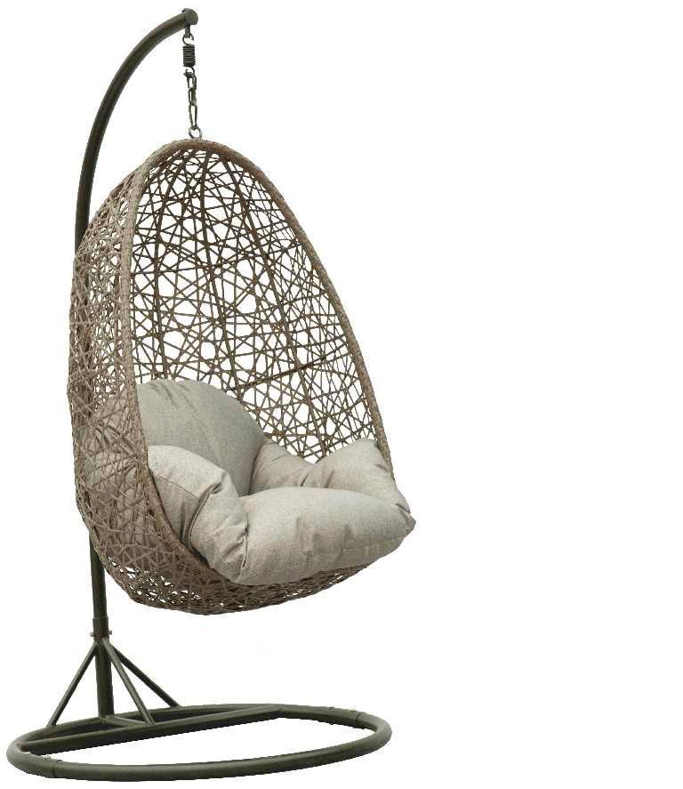outdoor wicker egg chair photo - 3