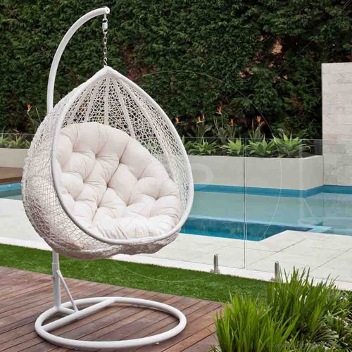 outdoor wicker egg chair photo - 8