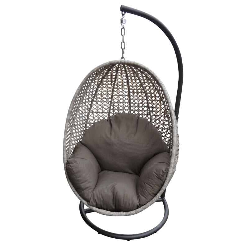 outdoor wicker egg chair photo - 9