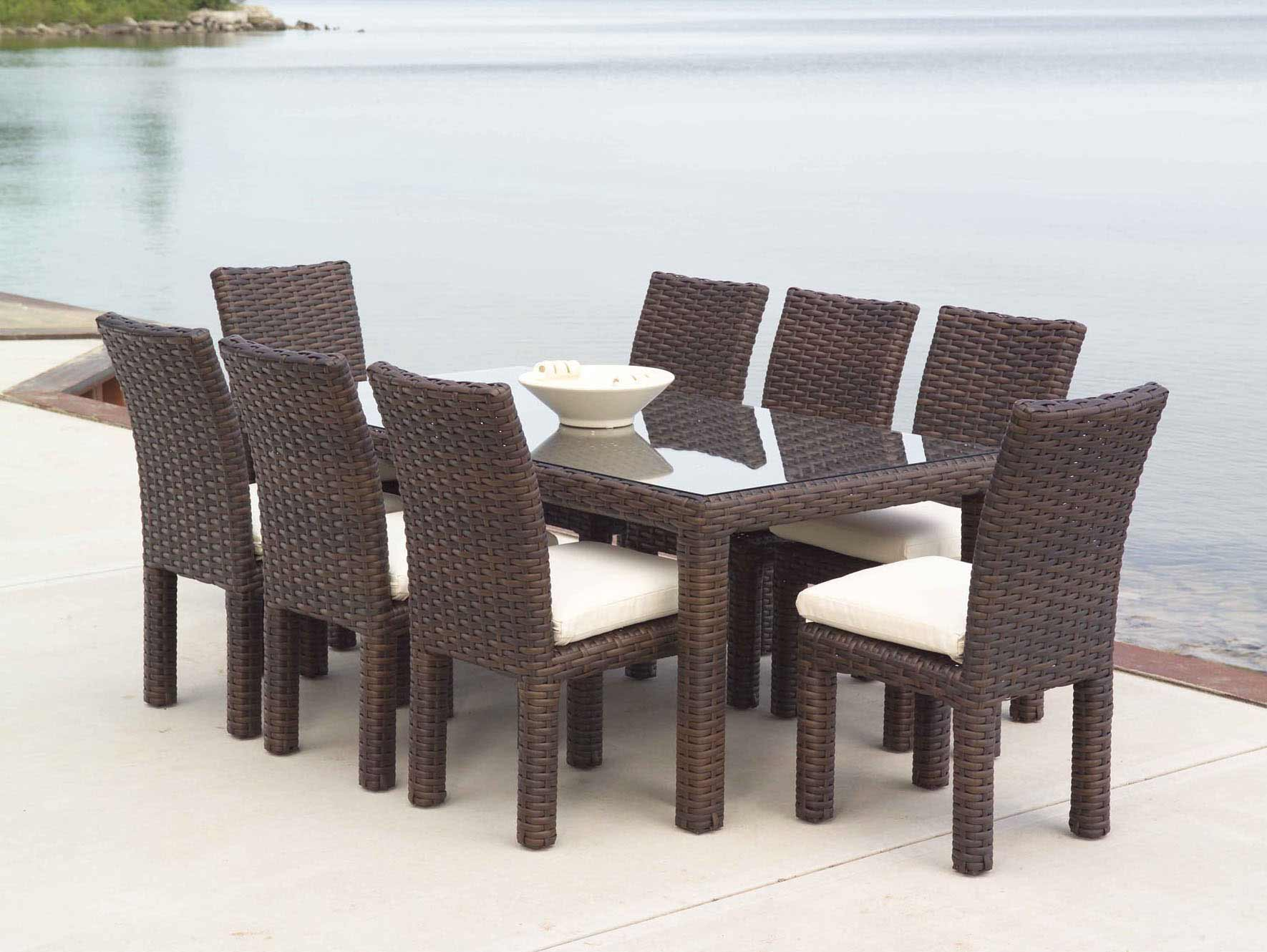 Outdoor Wicker Furniture Dining Sets Photo   2