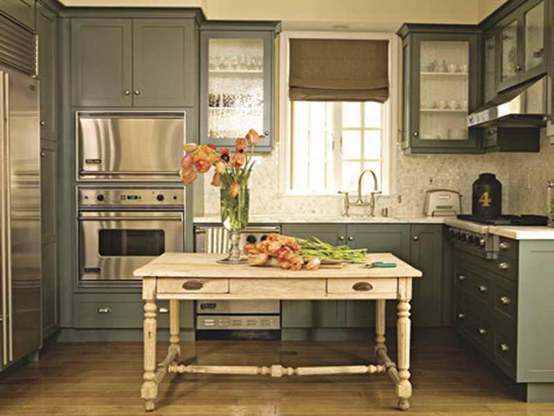 paint kitchen cabinets ideas what color photo - 7
