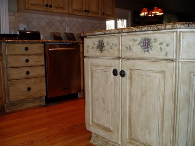 Painting Old Kitchen Cabinets Ideas Photo   1