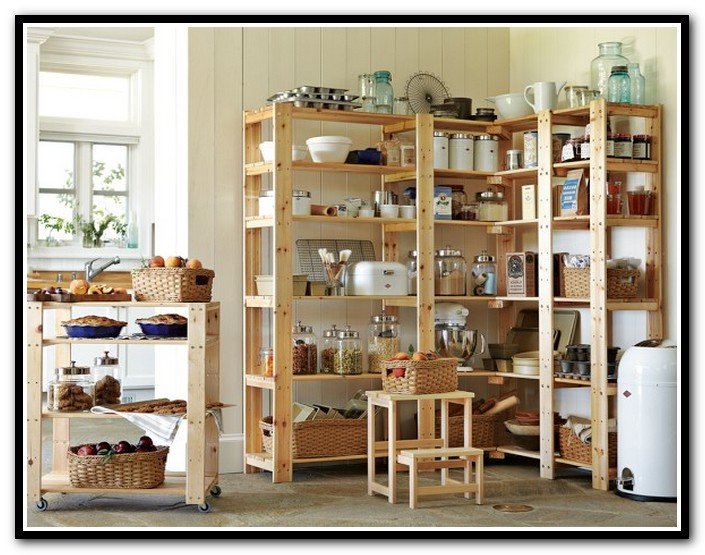 pantry shelving systems wood photo - 7