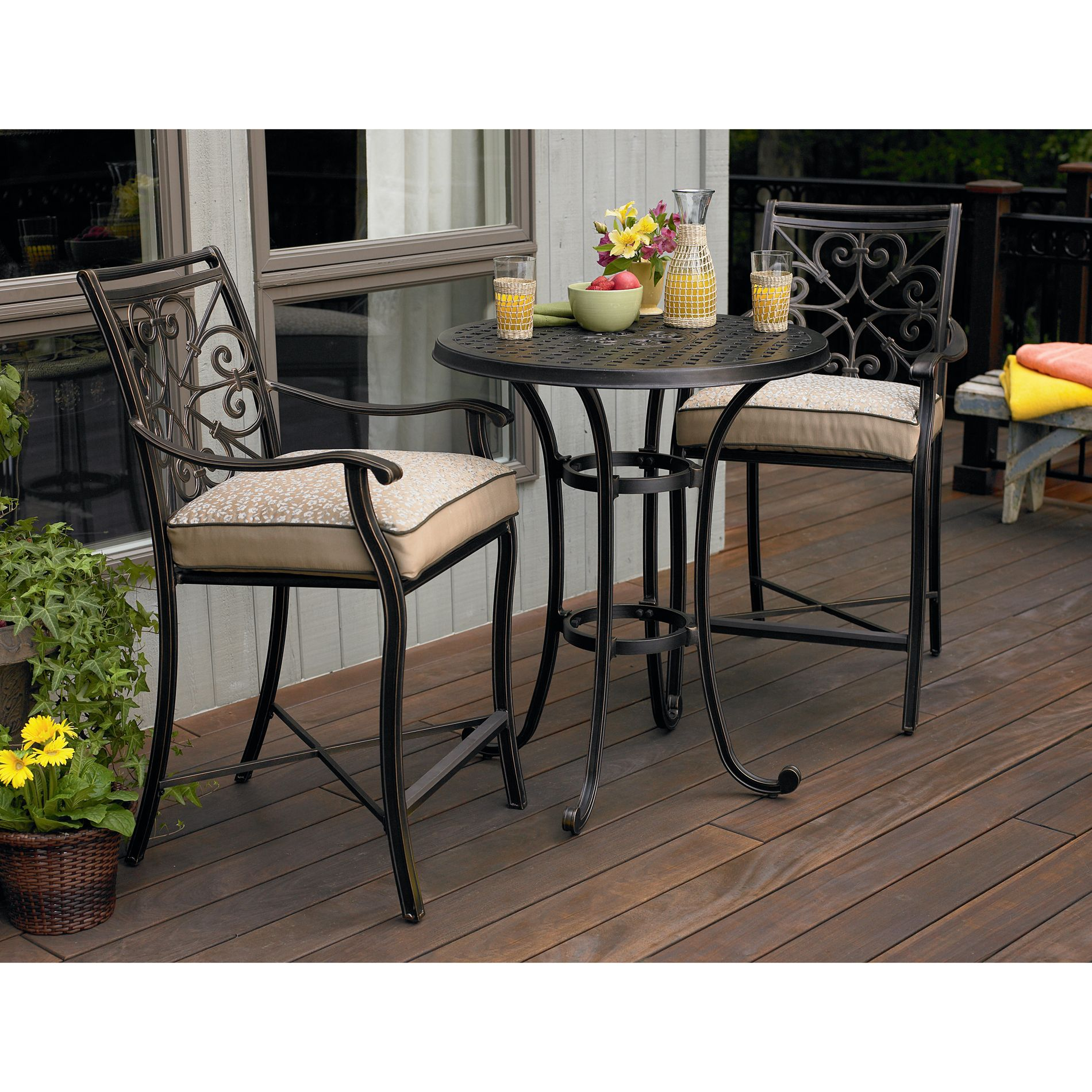 patio dining sets balcony height photo - 9